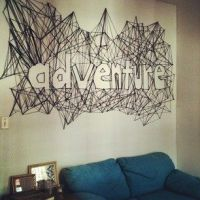 string art typography | negative space | crafty stuff ...