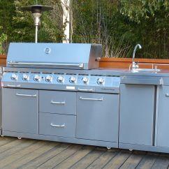 Outdoor Kitchen Sinks Cart With Drop Leaf Bt8 Kr 8 Burner Bbq Fridge Sink Combo