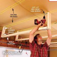 How to build storage above garage door   Organizationnn ...