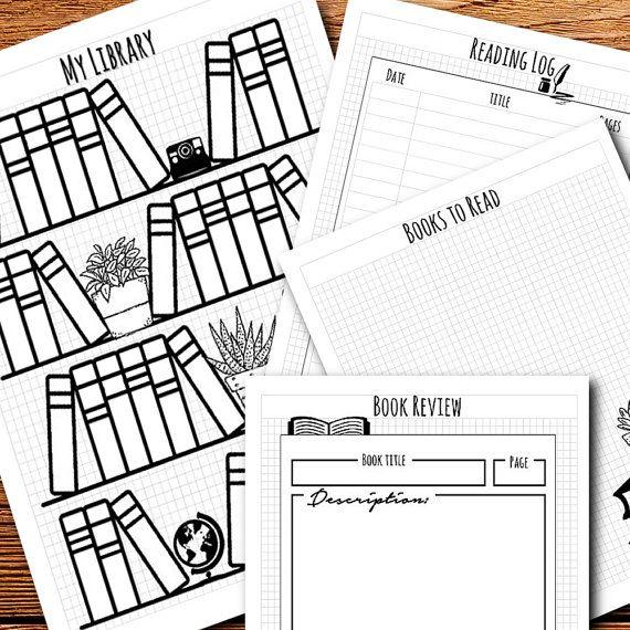 Bullet Journal / Planner Reading log, tracker, library