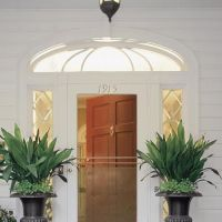 great flower planters front porch entrance. Shade loving