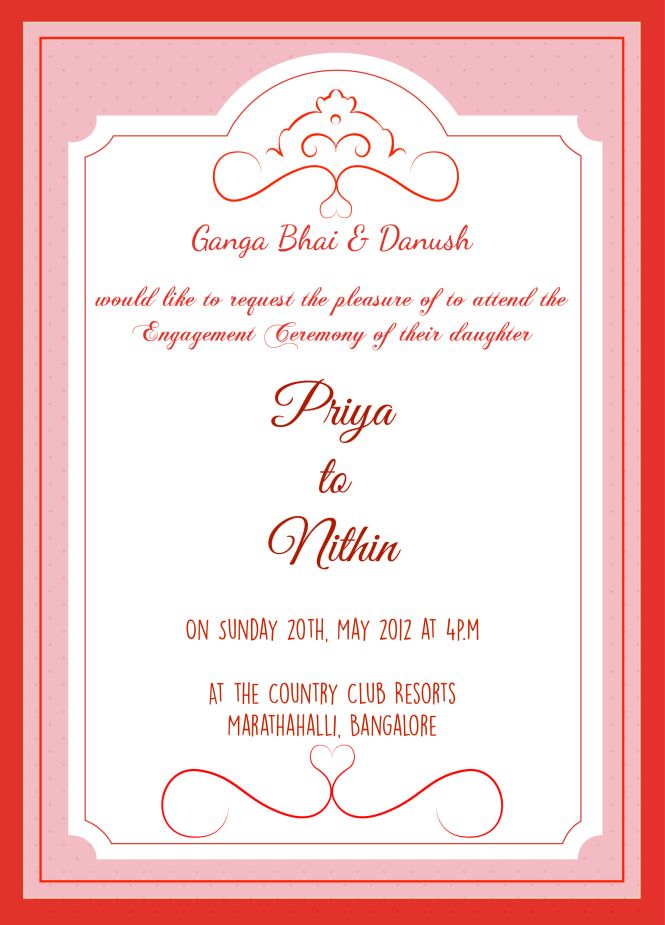 Create Engagement Invitation Cards Online Free – Create Engagement Invitation Card Online Free