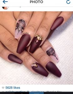 Burgundy And Black Nails Designs Valoblogi