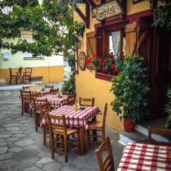 Italian Bistro Kitchen Decorating Ideas Mid Range Cabinets Gravisi Pizzeria Skiathos Island Greece Güzel Günler
