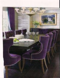Dark Purple Velvet chairs Dining Room | Ideas for my ...