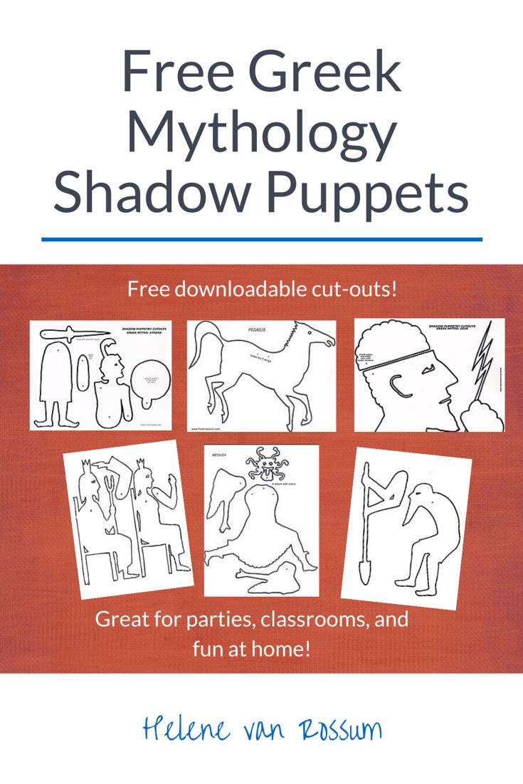 Cutouts Greek Myths Sh Dow Puppets Mythology Nd Puppet