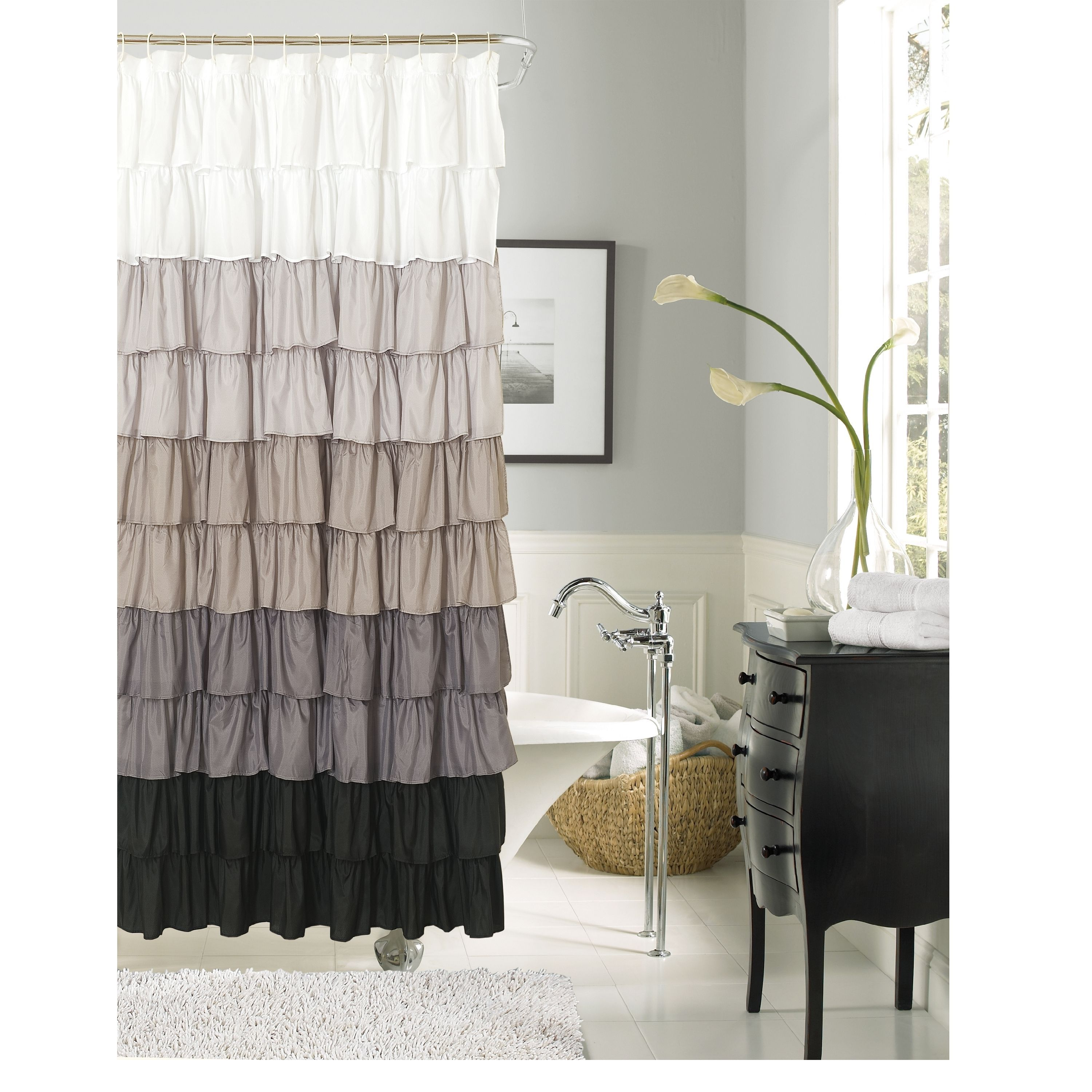 Flamenco Ruffle Shower Curtain Products Ruffles And To The