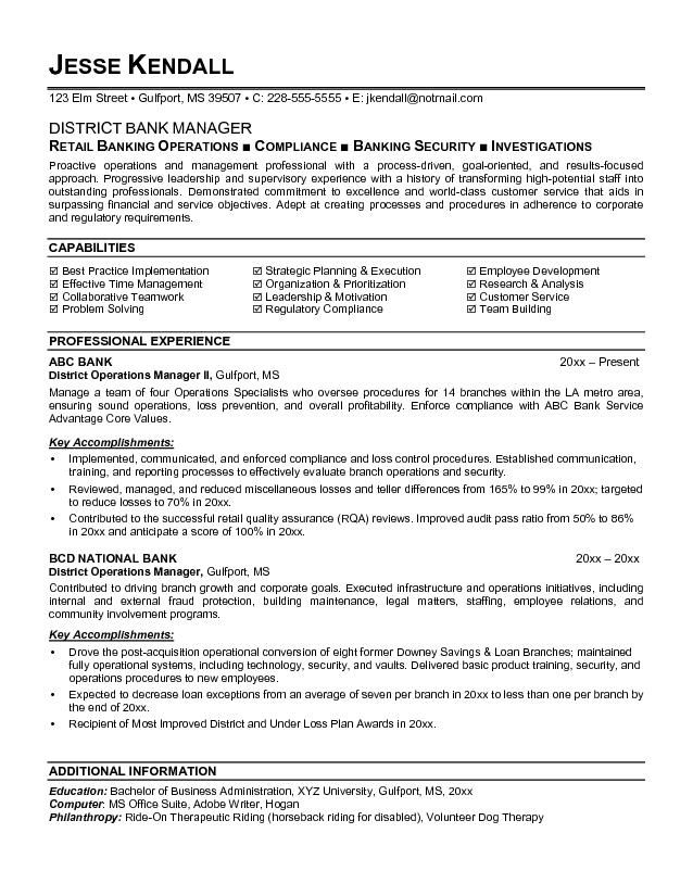 Banker Resume Template Example Investment Banking  Investment Banking Resume Template