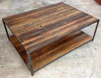 Reclaimed Wood and Angle Iron Coffee Table. $400.00, via ...