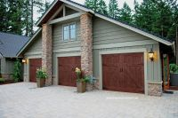 Ranch House Doors Elements Collection faux wood garage