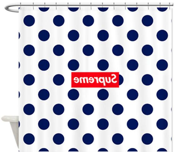 SUPREME Box Logo Polka Dot Shower Curtain Logos Curtains And