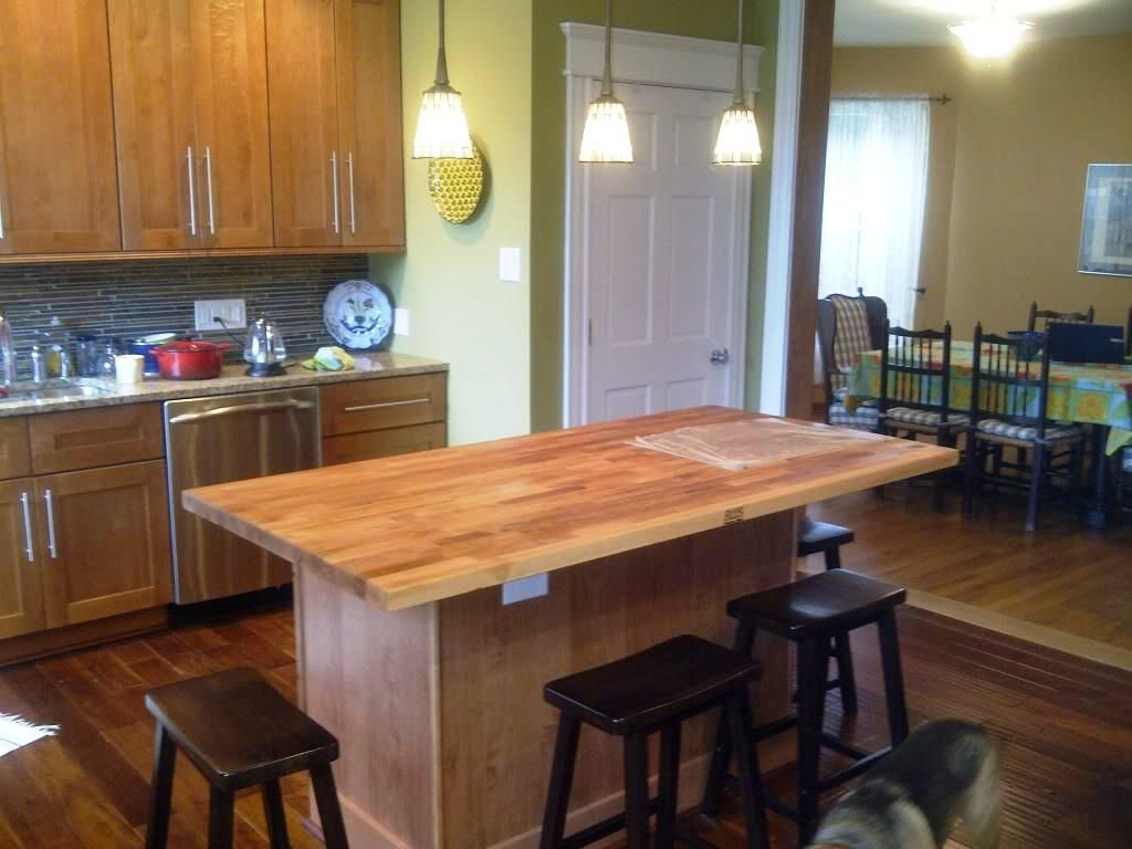 Kitchen Butcher Block Islands With Seating Cabin Staircase