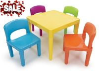 Child Sized Colorful Chairs Table Colors Set Plastic Study ...