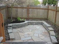 Flagstone patio with retaining wall | Yard | Pinterest ...