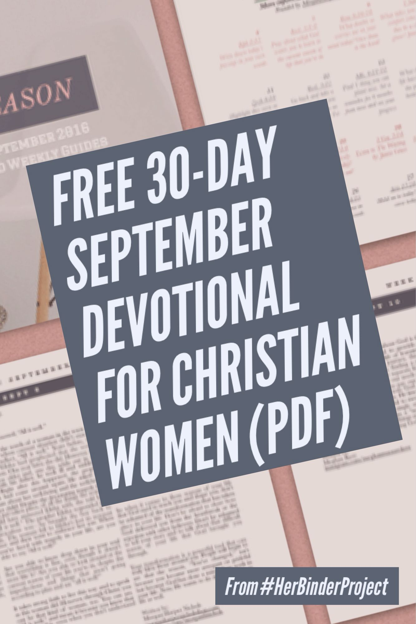 Free 30 Day Devotional For September Called In Every