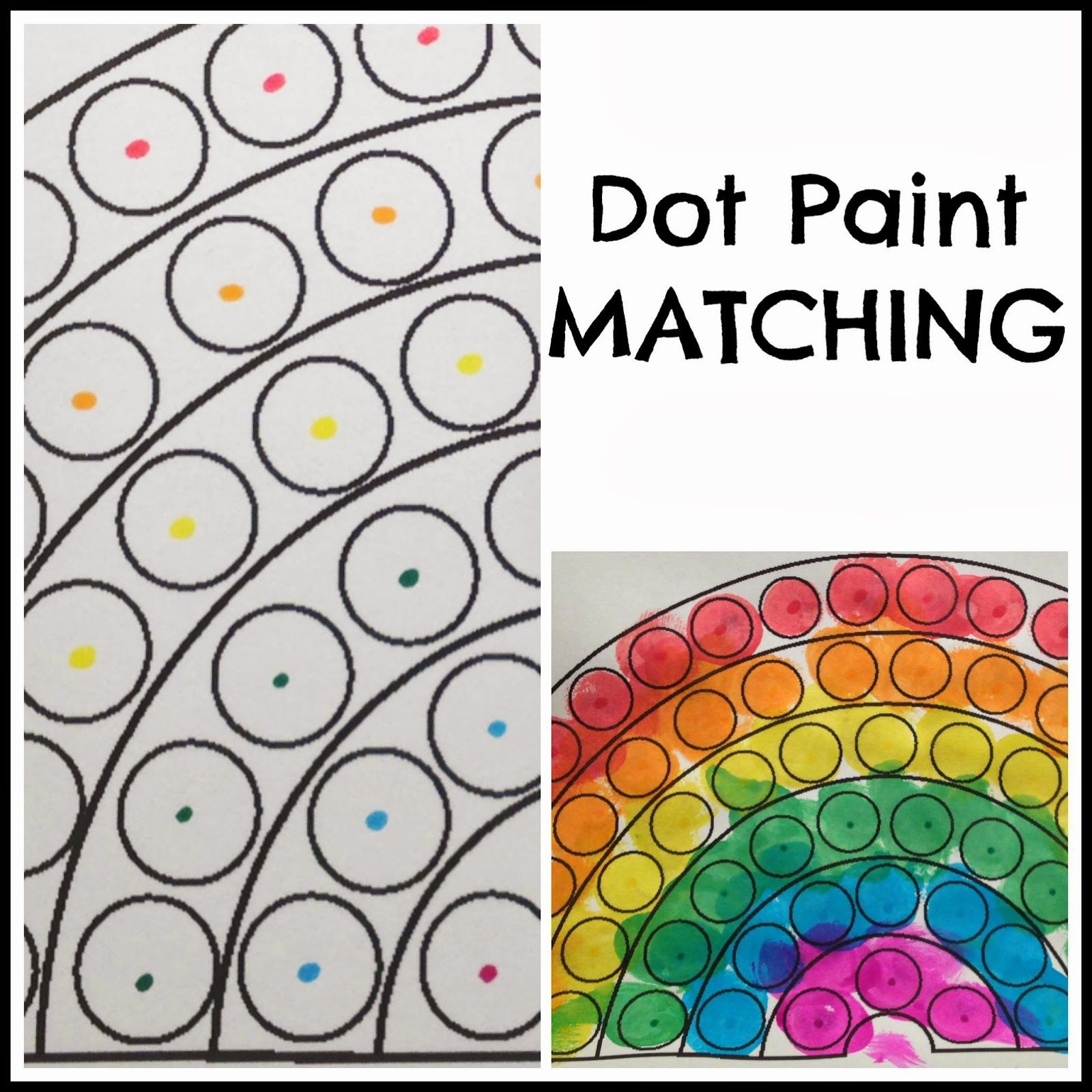 Toddler Dot Paint Activity Rainbow Theme Preschool Paint Color Matching Dot Paint Matching