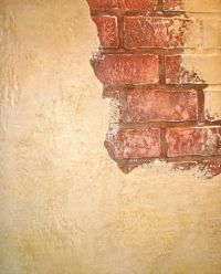 faux painting cracked walls | Old Brick Wall | faux walls ...