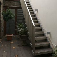 Exterior Design : Narrow Outside Metal Stair Design How to ...