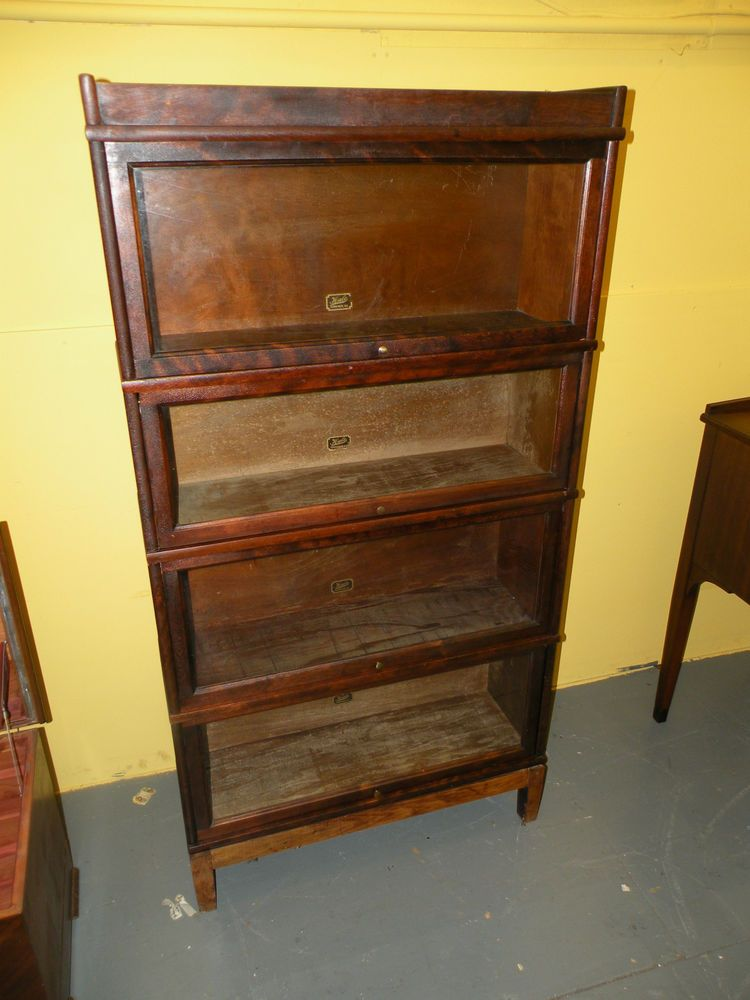 Antique Barrister Lawyer's Bookcase Display Cabinet Hale