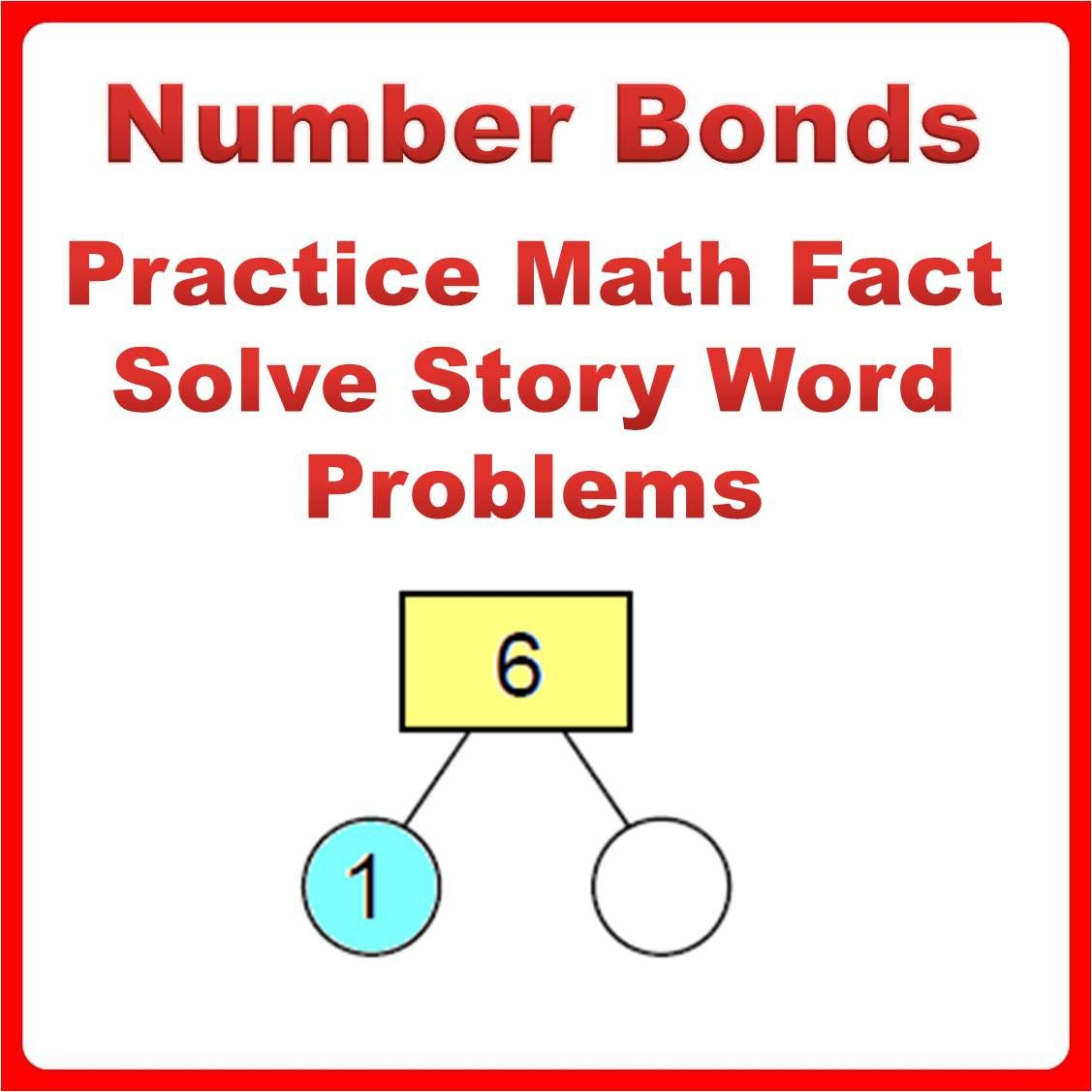 Number Bonds Bundle Math Fact Practice Problem Solving Add Subtract Strategies