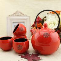 Japanese style ceramic tea set and wind red set wedding ...