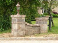Paver entry wing walls | Driveway entrance | Pinterest ...