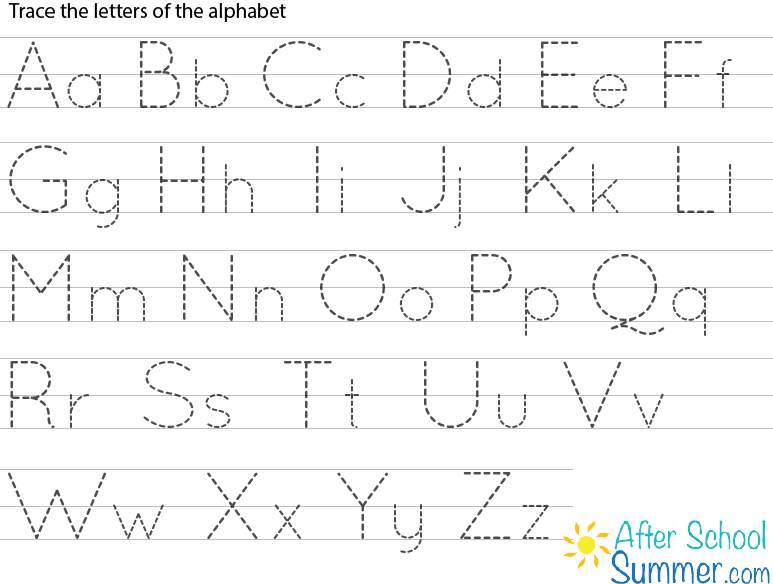 printable traceable alphabet chart for upper and lower