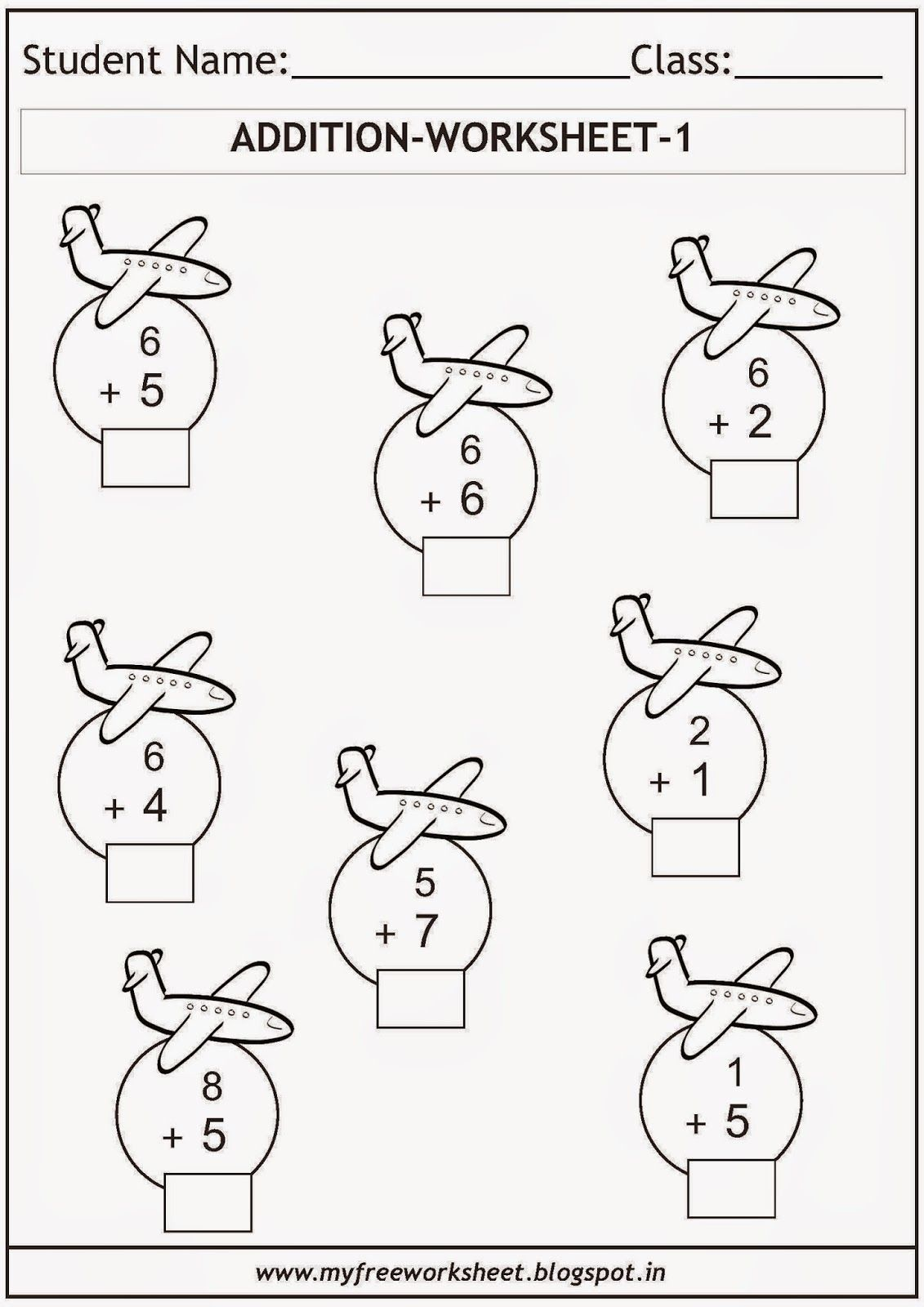 Free Printable Math Worksheets For Grade 1 Kids Includes
