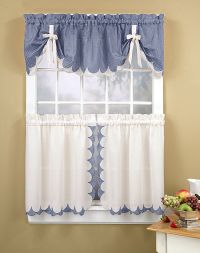 Kitchen Curtains | Tabitha 3-Piece Kitchen Curtain Tier ...
