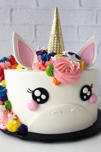 torte selber machen, torte einhorn dekoriert mit ...