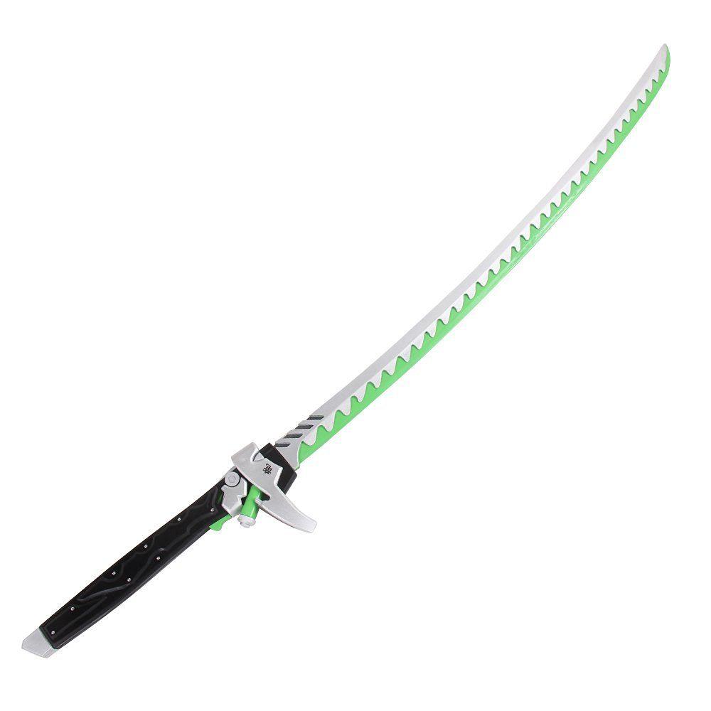 Amazon.com: Mtxc Overwatch Cosplay Prop Genji Sword Silver