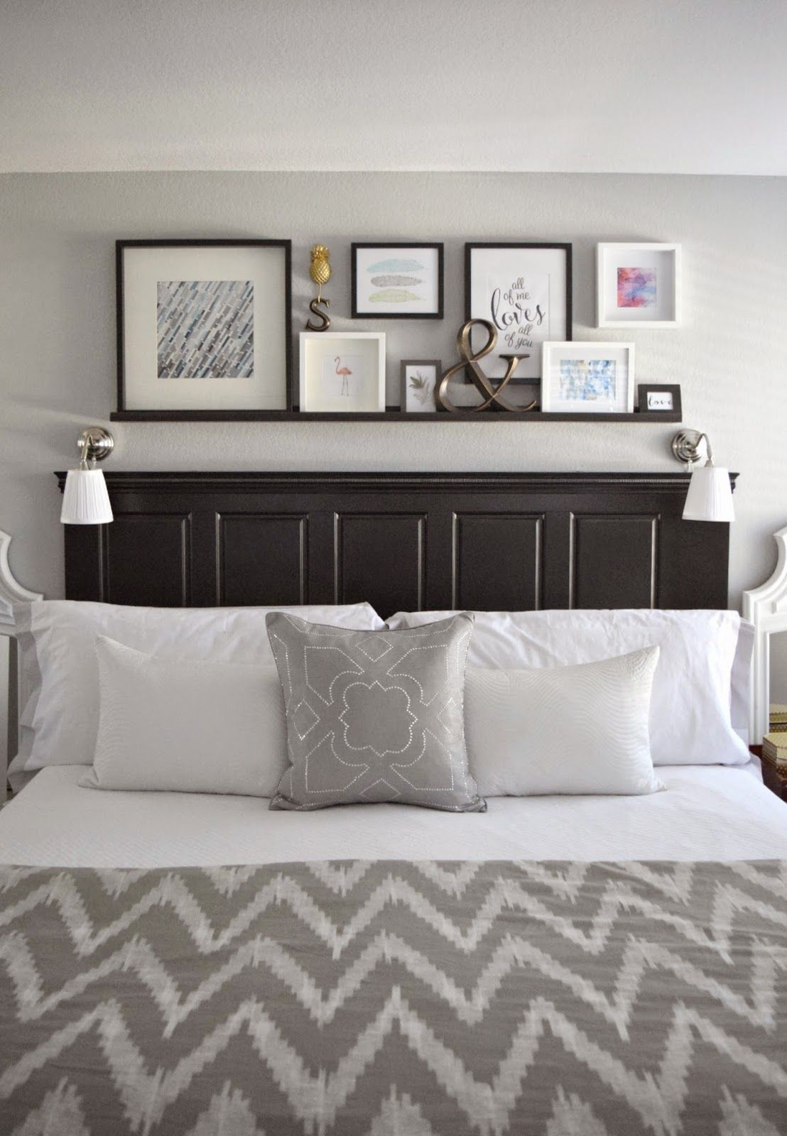 decorating tricks for your bedroom shelf above bedwall also bedrooms master and rh pinterest