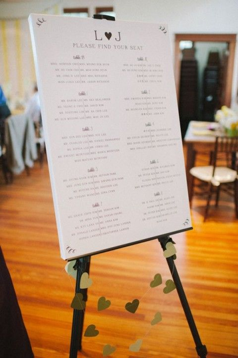 Canvas Amp Easel 107 Original Wedding Seating Chart Ideas