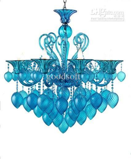 Bella Vetro 8lights 36 Aqua N Glass Chianti Chandelier Blue Villa Hotel Living Room