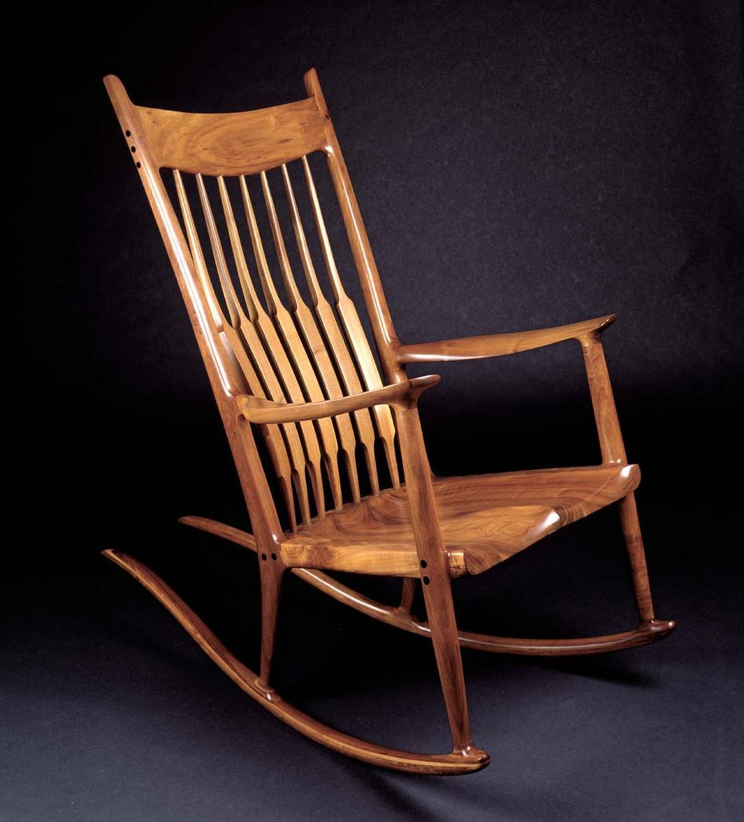 rocking chair fine woodworking mies van der rohe barcelona more of my fathers work koa wood