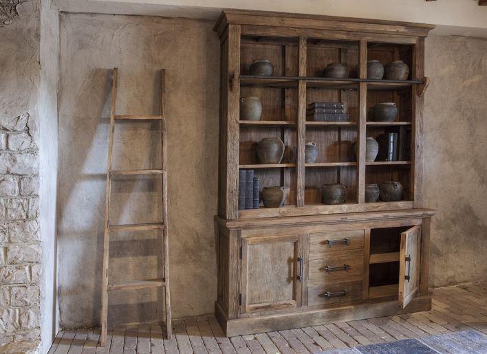 Bibliotheek kast oud hout  Wooninspiratie  Pinterest