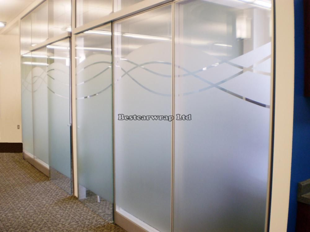Privacy Window Film Frosted Glass White Decoration Self