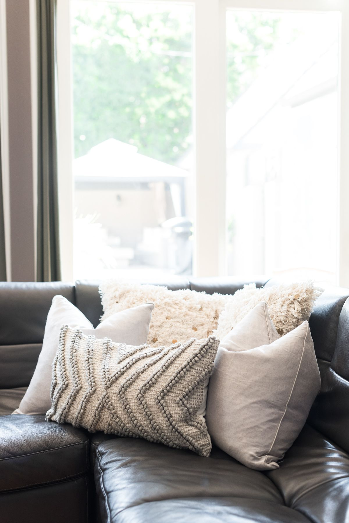 pillow ideas for white leather sofa pure sets in india hello home decor update sectional sofas