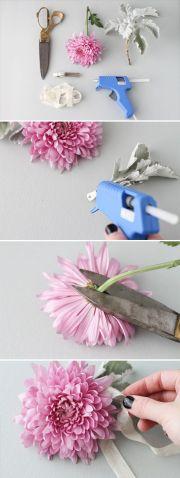 make diy fresh flower hair