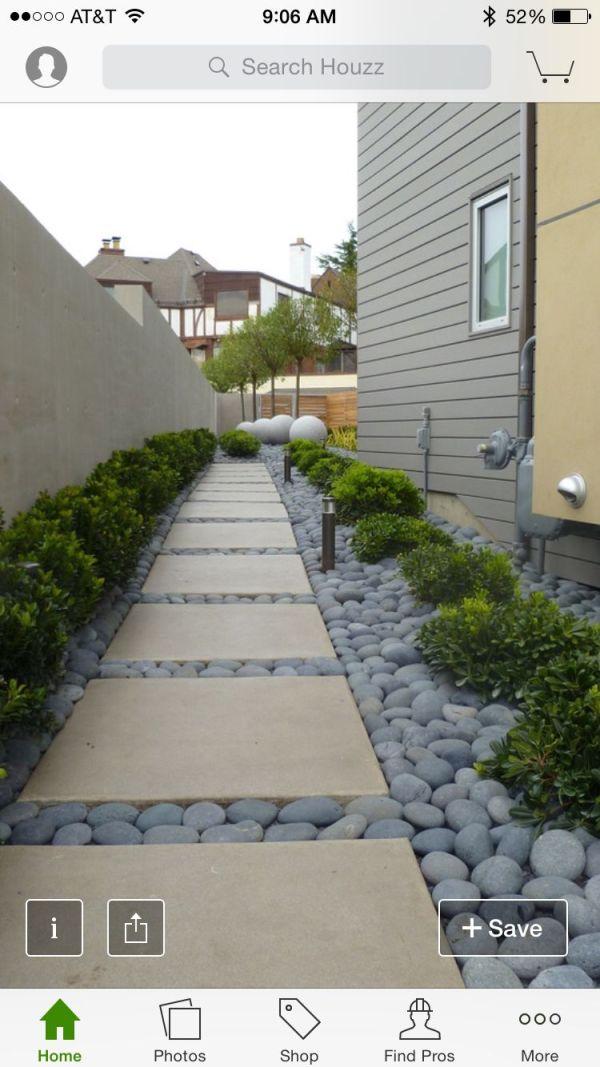 maintenance side yard garden