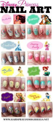disney princess nails