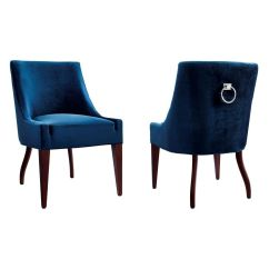 Dark Blue Velvet Accent Chair Ghost Arm Chairs Tov Furniture Dover Dining W Silver