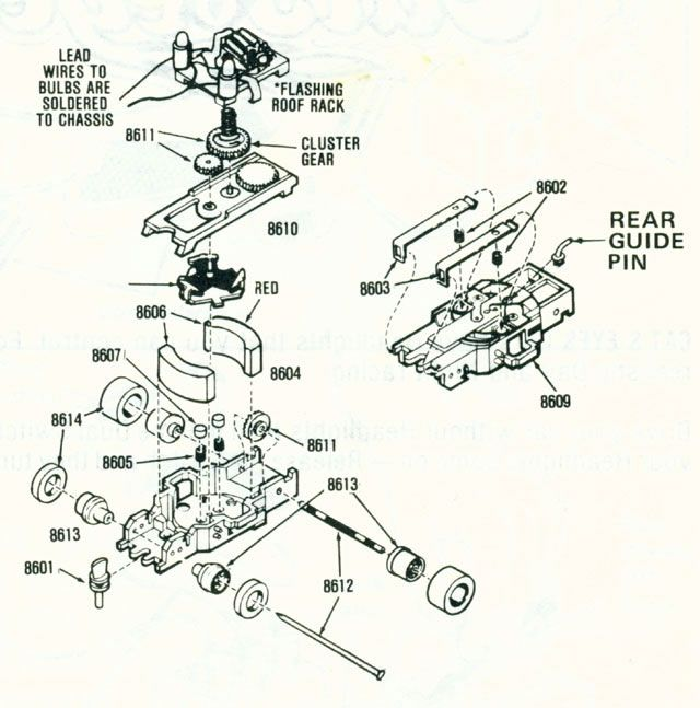 Identifications: HO Scale Slot Car Chassis: Aurora AFX