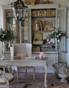 Home office decor doesn   have to be cluttered sterile you can make it beautiful like this french country shabby chic also charm decorating ideas pinterest rh