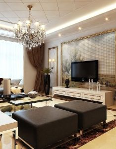 Ceiling design ideas white patterned with molding cove lighting and crystal chandelier also rh pinterest