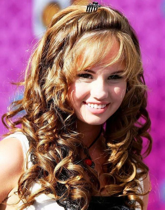 Cute Hairstyles For Long Curly Hair With Bangs Curly Hair Styles