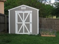 barn shed door panel ideas | Nice Gray Wooden Small Shed ...