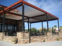 Commercial Aluminum Louvered-Roof Patio Cover canopy ...