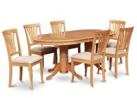 7pc oval dinette kitchen dining room set table with 6 ...