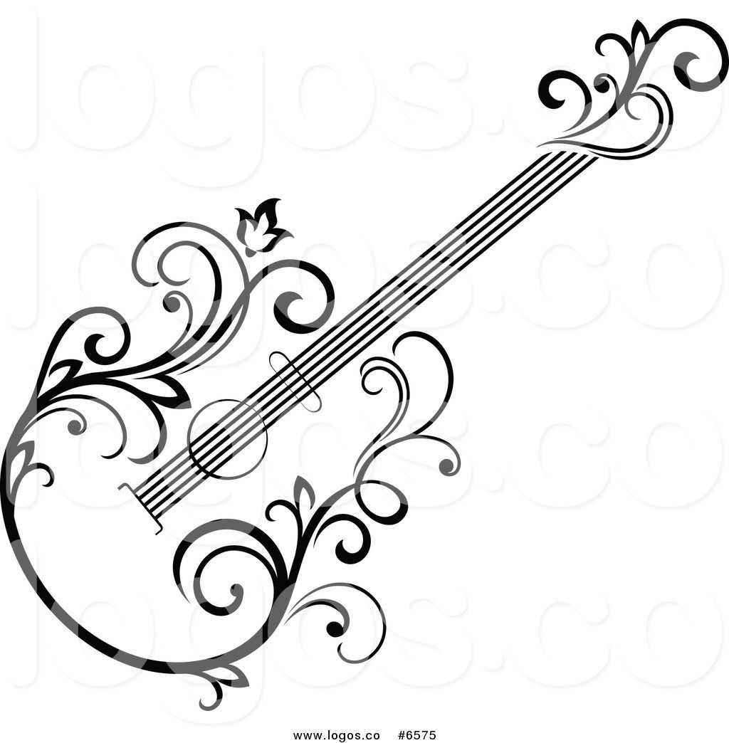 Royalty Free Clip Art Vector Logo Of A Black And White
